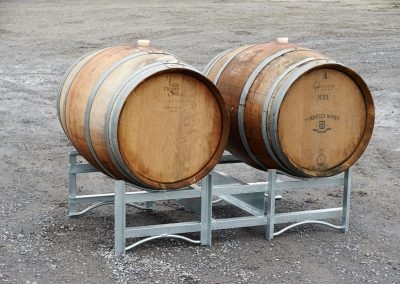 Wine Barrell stands & grape bins